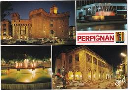 Perpignan: 4x CITROËN DS, SIMCA ARONDE 1300, VW T1-BUS, RENAULT 4, DAUPHINE - Le Castillet, Loge De Mer - Toerisme