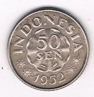 50 SEN 1952 INDONESIE /8585/ - Indonésie