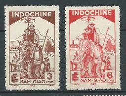 INDOCHINE 1942 . N°s 227 Et 228 . Neufs (*) Sans Gomme. - Indochine (1889-1945)