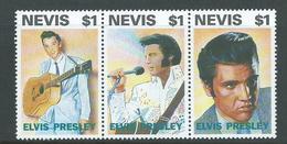 Nevis 1993 Elvis Presley Strip Of 3 MNH - St.Kitts-et-Nevis ( 1983-...)