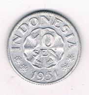 10 SEN 1951  INDONESIE /8589/ - Indonésie