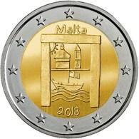 MALTA 2 Euro 2018 - Kulturerbe - Aus Rolle - Auf Lager - Malta