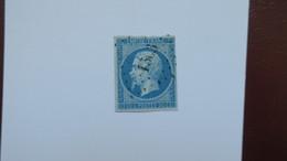 Napoleon N° 14 Ae Bleu Sur Lilas Signé Brun - 1853-1860 Napoléon III