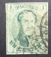 BELGIE   1861      Nr. 9   Goed Gerand - Zie Foto    Gestempeld    CW 140,00 - 1858-1862 Medaillen (9/12)