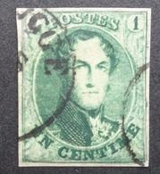 BELGIE   1861      Nr. 9  A    Goed Gerand - Zie Foto    Gestempeld    CW 150,00 - 1858-1862 Medaillen (9/12)