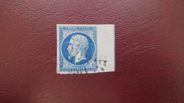 Napoleon N° 14 Ai Avec Filet D'Encadrement Signé Brun Cote 400 €TB - 1853-1860 Napoléon III