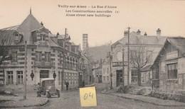 VAILLY Sur AISNE 02 La Rue D'Aisne Animée D'Enseignes FELIXPOTIN / BAR AMERICAIN + Automobile - Unclassified