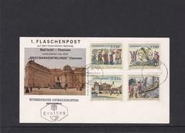 Österreich 1. Flaschenpost Bad Ischl Ebensee Satz Ersttag FDC 28.9.1966 - FDC