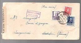 1938 Censura Military Puerto De La Cruz, Santa Cruz De Tenerife To Seuzaret L'Argentière France (6-4) - 1931-Today: 2nd Rep - ... Juan Carlos I