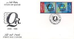 Qatar FDC 2005, Philatelic Club Anniversary, Gold Embossed Logo. - Qatar
