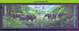Mwk023 FAUNA OLIFANTEN DIKHUIDEN ZOOGDIEREN ELEPHANTS MAMMALS ELEFANTEN THAILAND 1995 PF/MNH - Elephants