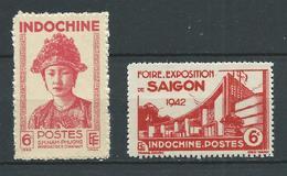 INDOCHINE 1942 . N°s 230 Et 231 . Neufs (*) Sans Gomme . - Indochine (1889-1945)