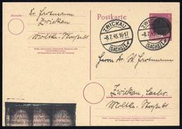 1945, Sächsische Schwärzungen, AP P314II, Brief - Deutschland