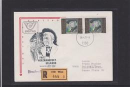 Österreich ANK 1563 Fritz-Herzmanowsky-Orlando Reco Ersttag FDC 1977 - FDC