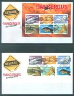 AUSTRALIA  - FDC - 3.10.2006 - DANGEROUS AUSTRALIANS - Yv 2603-2613 BLOC 93 - Lot 18595 - Premiers Jours (FDC)