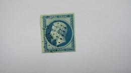 Napoleon N° 14 Ba Bleu Sur Vert   TB Type II - 1853-1860 Napoléon III