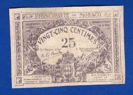 Monaco  25  Cents  1920 - Monaco