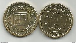 Yugoslavia 500 Dinara 1993.  KM#167 High Grade - Yugoslavia