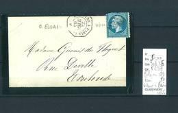 Lettre Ambulant  Le Havre à Paris -Cachet D'essai- 1865 - Rare- Pothion N 189 - Indice 15 - Poststempel (Briefe)