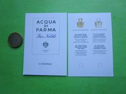 ACQUA DI PARMA -  Carte Parfumée - Perfume Cards