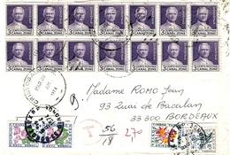 1974- Enveloppe De Cristobal ( Panama )  Affr. 3 C. X 14   -  TAXE FRANCAISE à 2,70 F. - Panama