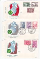 BE - Série De 6 FDC - Nations Unies à L'exposition Universelle De Bruxelles - 1958 - Timbres 1053/62 + PA 30/35 - 1951-60