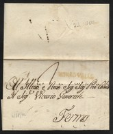 DA MORROVALLE A FERMO - 18.8.1823 - COLORE RARO. - 1. ...-1850 Prefilatelia