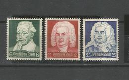 Deutsches Reich. Bekannte Komponisten. Mi.-Nr. 573 - 575 Postfrisch ** - Allemagne