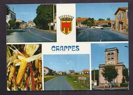 CPSM 63 - CHAPPES - TB CP Multivue Dont Mairie , Centre-bourg , Route De Lussat , Eglise - CITROEN DS - France