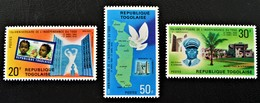 10 EME NNIVERSAIRE DE L'INDEPENDANCE 1970 - NEUFS * - YT 658/60 - MI 786/88 - Togo (1960-...)