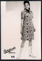 C0422 - Mode DDR - Bretschneider Mühlau Bei Burgstädt Werbekarte Werbung - Pretty Young Women Im Kleid - Moda