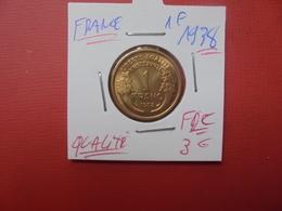 FRANCE 1 FRANC 1938 QUALITE FDC !!! - H. 1 Franco