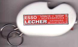 Briquet ESSO LECHER Hainburg + Ouvreur De Bouteille/bottle Opener,clipper,lighter, Feuerzeug,Accendino, Encendedor - Autres