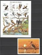 X257 !!! IMPERFORATE GHANA FAUNA BIRDS OF GHANA 1SH+1BL MNH - Oiseaux