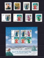 Great Britain 2007 Christmas Set Of 8 Self-adhesives + Minisheet CTO - 1952-.... (Elizabeth II)