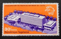 NOUVEAU BATIMENT DE L'U.P.U 1970 - NEUF ** - YT 661 - MI 790 - BORD DE FEUILLE - Togo (1960-...)