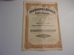 LES GRANDS HOTELS DU LITTORAL (action Ordinaire) OSTENDE - Hist. Wertpapiere - Nonvaleurs