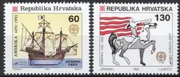 Croatie Croatia Cept Europa 1992 Yvertn° 171-172 *** MNH Cote 3,50 Euro - Europa-CEPT