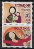 Ecuador (2001) Yv. 1536/37  /  Women Day - Equateur