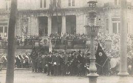 Entrée Des Anglais à Spa - Carte-photo - Guerre 14-18 - Groupe De Militaires - 2 Scans - Guerre 1914-18
