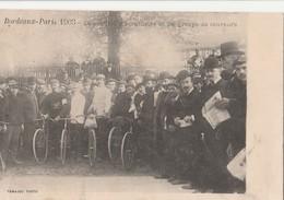 CPA 33 BORDEAUX COURSE CYCLISTE PARIS BORDEAUX AUCOUTURIER GAGNANT 1903 - Cycling