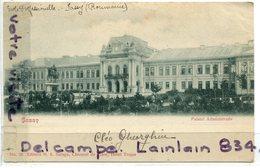 - Roumanie - Romania, JASSY - Palatul Administrativ, , Précurseur, épaisse, écrite, 1900, TBE, Scans. - Roumanie