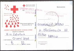 YUGOSLAVIA  - JUGOSLAVIA  - SERBIA - Blood Donors OFFICE CARD - APATIN - 2007 - Croce Rossa