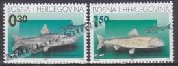 Bosnia Herzegovina - Mostar - Croatia 2001 Yvert 49-50, Fishes - MNH - Bosnia Herzegovina