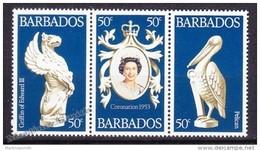 Barbade - Barbados 1978 Yvert 449- 51, 25th Coronation Anniversary Of Queen Elizabeth II - MNH - Barbados (1966-...)