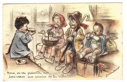 Illustrateur Germaine BOURET - Nous, On Va Présenter Nos Bons Voeuxaux Cousins De La Ville! - Ed. M. D., Paris - Bouret, Germaine