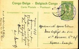 GEA  RUANDA URUNDI  STIBBE 42 VIEW 11 INTERIM PERIODE KIGOMA 01.03.1917 TO FRANCE - Stamped Stationery