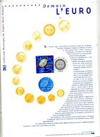 Feuillet Fdc 2001 Demain L'euro - FDC
