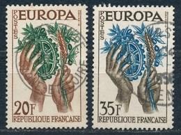 France-Europa 1957 YT 1122-1123 Obl. - Oblitérés