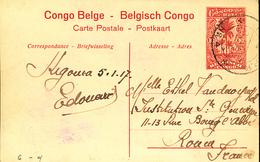 GEA  RUANDA URUNDI  STIBBE 43 VIEW 17 INTERIM PERIODE KIGOMA 05.01.17 TO FRANCE - Stamped Stationery
